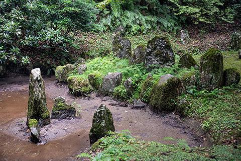 龍蔵寺 雪舟庭園(流水の庭)